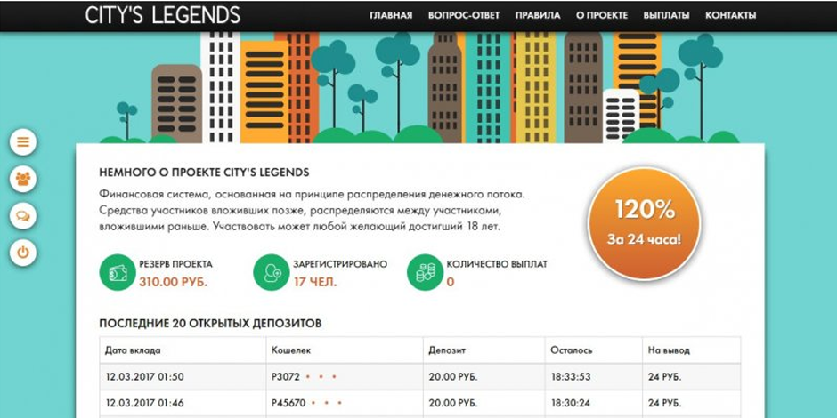 Скрипт Payeer удвоителя Citys Legends