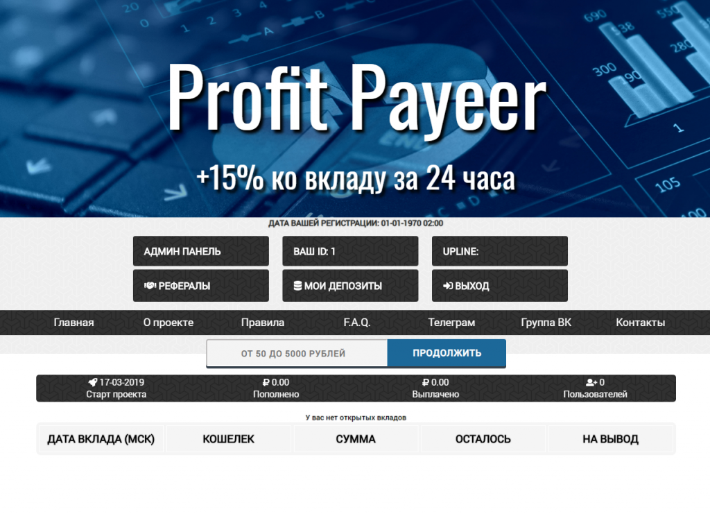 Скрипт удвоителя Profit Payeer