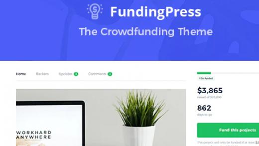 Fundingpress v5.2 – краудфандинг шаблон WordPress