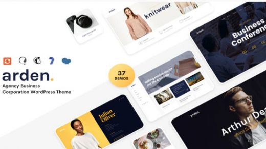 Arden v2.4.0 - бизнес шаблон WordPress