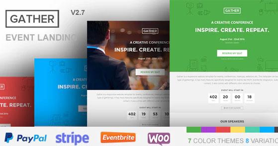 Gather v3.0.3 - шаблон конференции WordPress