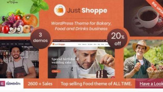 Justshop v10.1 - WordPress шаблон