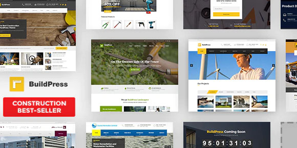 BuildPress v5.6.0 NULLED - строительный шаблон WordPress
