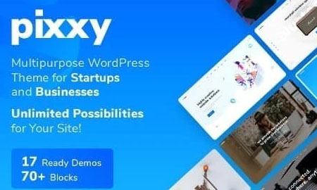 Pixxy v1.1.1 - WordPress шаблон для п. о. и SaaS