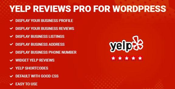 Yelp Reviews Pro for WordPress v1.9