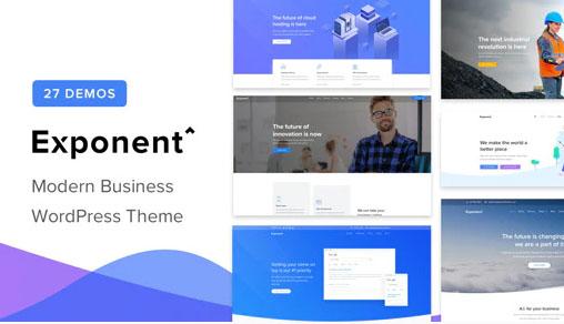 Exponent v1.2.8.2 - современный бизнес шаблон WordPress