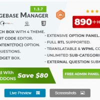 BWL Knowledge Base Manager v1.3.1 - WordPress
