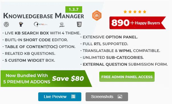 BWL Knowledge Base Manager v1.3.1 -  WordPress