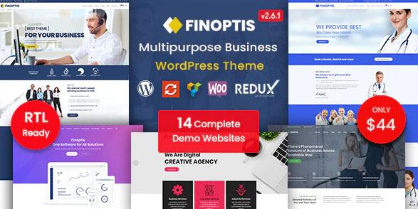 Finoptis v2.2 - бизнес шаблон WordPress