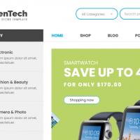 GreenTech v1.4 - адаптивная WooCommerce тема