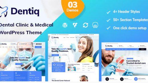 Dentiq v2.1 - медицинская тема WordPress
