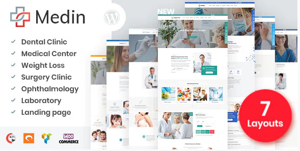 Medin v1.6.1 NULLED - тема для WordPress