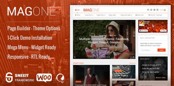 MagOne v6.8 - новостная тема WordPress